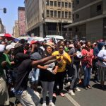 Militant March in Johannesburg led by the Gauteng Housing Crisis Committee